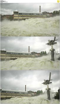 洪流洪灾实拍视频素材