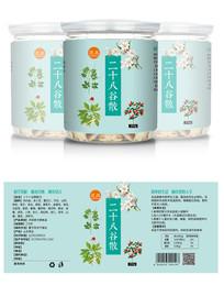 灵凤保健品标签设计