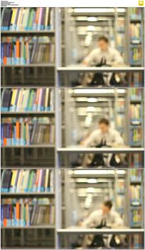 图书馆看书学习实拍视频素材