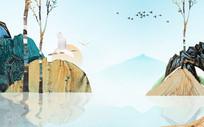 新中式古典中国风电视背景墙