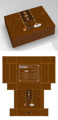 白桦茸保健品茶叶包装礼盒