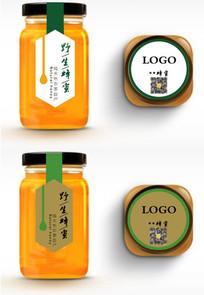 蜂蜜瓶装标签