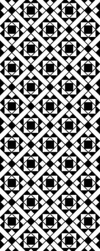 黑白拼贴图案