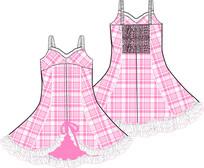 可爱公主裙睡裙设计手稿