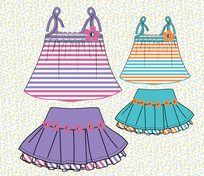 可爱女童服装款式设计手稿