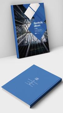 蓝色建筑空间设计国外画册封面