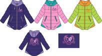 女童服装款式设计手稿