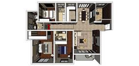 四室两厅一厨两卫一阳台