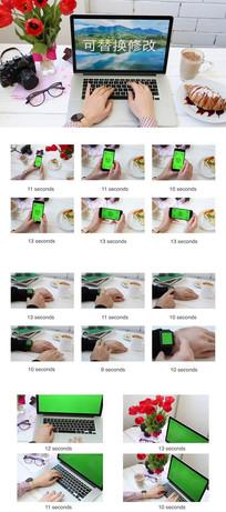 通讯触屏产品图片展示模板  aep