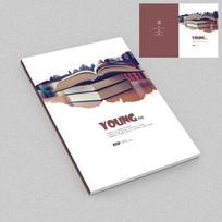 校园风格唯美书籍封面设计