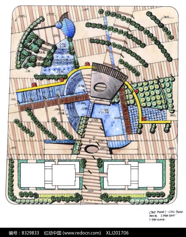 广场规划平面图片