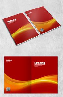 红色大气商务封面