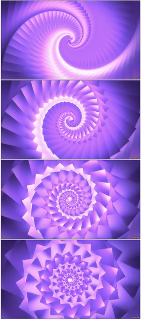 华丽万花筒螺旋视动态背景视频