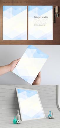 蓝色几何马赛克背景纸