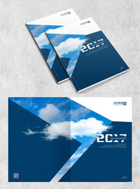 蓝色云朵封面设计