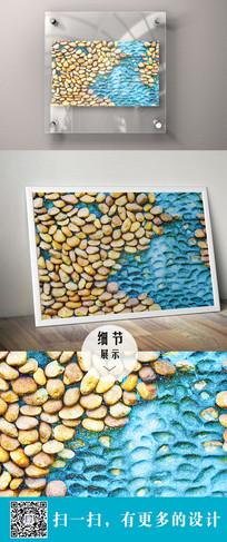 鹅卵石立体装饰画