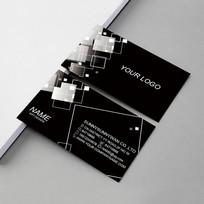 黑色装饰公司名片设计 AI
