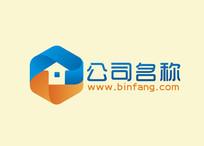 蓝色房子logo CDR