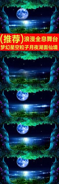 梦幻星空粒子月夜湖面仙境视频素材