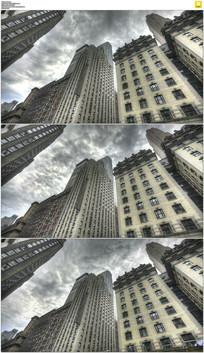 纽约摩天大楼乌云实拍视频素材