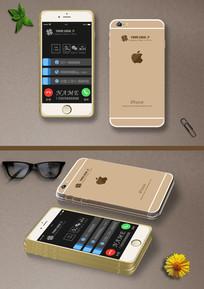 苹果iphone6手机名片 PSD