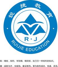 锐捷教育学校logo CDR