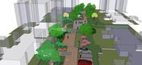 小区广场景观绿地