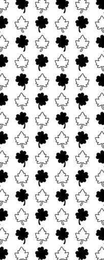 幸运草和枫叶图案
