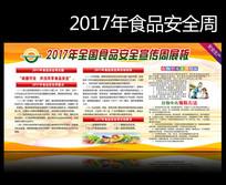 2017年全国食品安全宣传周展板