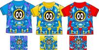 T恤印花矢量童装家居服设计