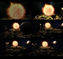 齿轮星球天平称视频素材 mp4