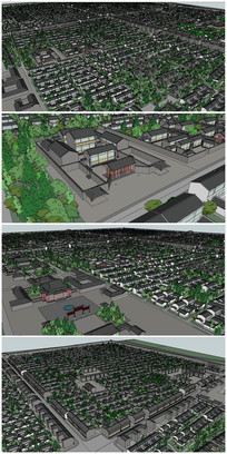 古城城市规划SU模型 skp