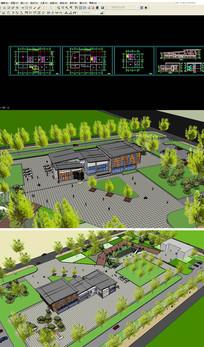 活动中心SU模型含CAD图纸