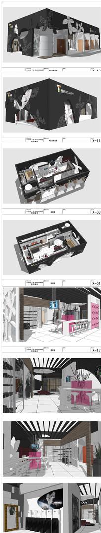 建筑装饰博览会展厅SU模型