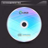交叉梦幻线条背景光盘模板设计