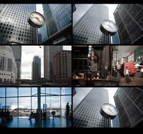 机场大钟表视频素材 mp4