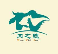 鸡猪牛图形logo