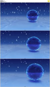蓝色水晶球体背景视频素材