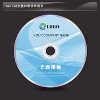 蓝色线条背景光盘模板CDR