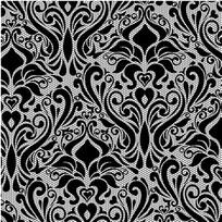 蕾丝印花丝网模具黑白图案