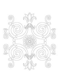 欧式浮雕雕刻纹样