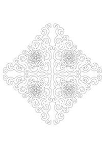 三角形拼接雕刻纹样