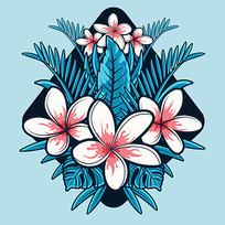 手机壳热带花卉图案