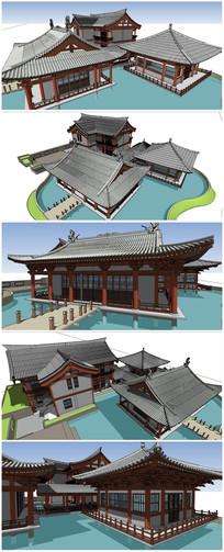 宋代古典建筑SU模型素材 skp