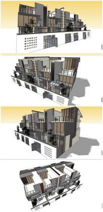 苏式中式住宅SU模型素材