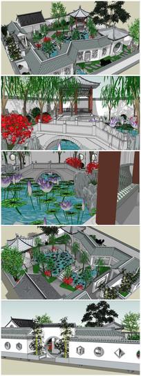 苏州古典园林建筑SU模型 skp