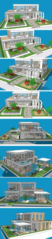 阳光房别墅房屋SU模型