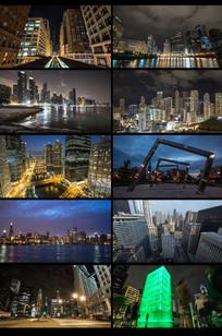 延时摄影城市夜景视频 mp4
