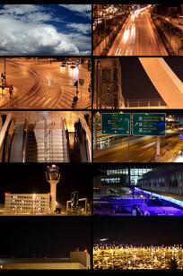 延时夜景视频素材 mp4