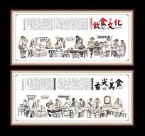 中华饮食文化挂画